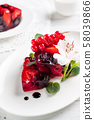 Fruit jelly terrine with berries 58039866