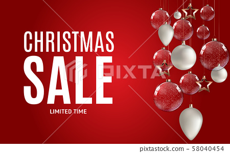 Christmas and New Year Sale Gift Voucher, Discount 58040454