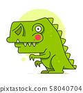 Cute Cartoon Dino Design. Funny Cartoon Character. 58040704