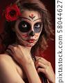 santa muerte makeup 58044627