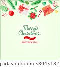 크리스마스 오브젝트 수채화 58045182