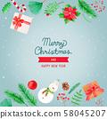 聖誕節對像水彩 58045207