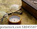 골동품 시계 회중 시계지도 복고풍 58045587