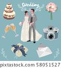 结婚宴会套装(带背景) 58051527