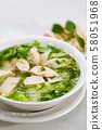 Chicken rice noodle soup 58051968