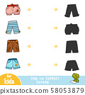 Find the correct shadow, education game, set of 58053879