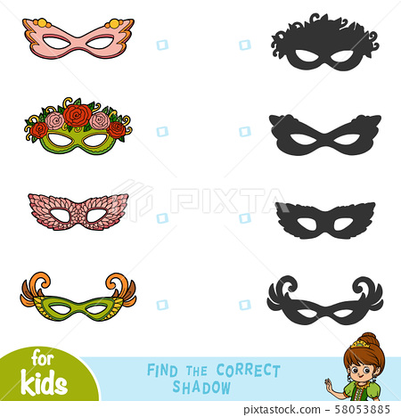 Find the correct shadow, education game, set of 58053885