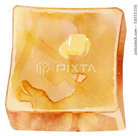 토스트 버터 58055330