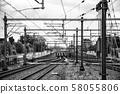 Train tracks in Amsterdam 58055806