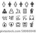 obesity icon set 58060048