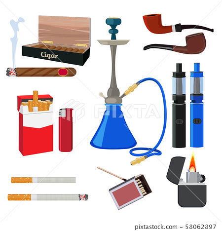 Hookah, tobacco, cigarette and other different tools for smokers 58062897