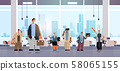 business people team working together men women colleagues having meeting in conference room 58065155