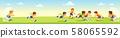 Boys kicking football on the sports field. 58065592