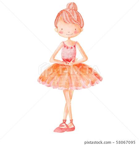 芭蕾舞芭蕾舞女演员服装粉红色 58067095