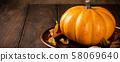 Autumn pumpkin thanksgiving background 58069640