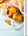 Autumn pumpkin thanksgiving background 58069643
