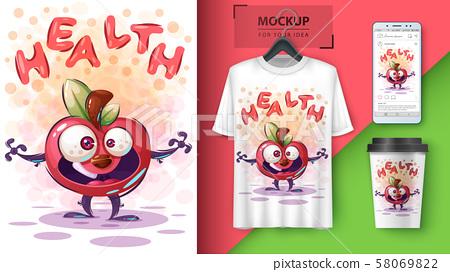 Health apple - mockup for your idea 58069822