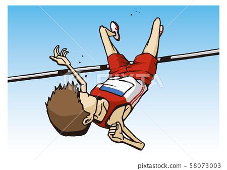 Athletics Men's High Jump Illustration 58073003
