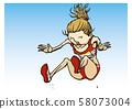 田徑女子跳遠圖 58073004
