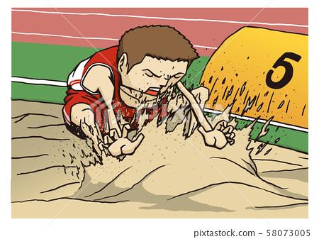 Athletics Men's Long Jump Illustration 58073005