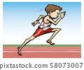 田徑男子短跑插圖 58073007