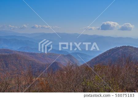 군마현 아카기 산의 地蔵岳 정상에서 동쪽 (栗生山, 黒保根 초 방면)보기 58075183