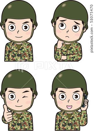 男性自衛隊5 58075470