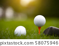 golf balls on the green 58075946
