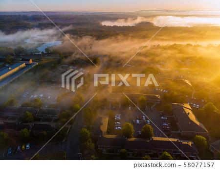 Aeria eye view houses in sleep area in beautiful 58077157