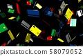 Credit cards on black background 58079652