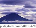 (야마나시 현 오시 노 촌) 약동하는 구름과 후지산 58080429
