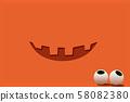 Halloween background: Jack Lantern smile and eyes. 58082380