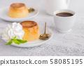 Creme caramel dessert or flan background 58085195
