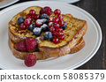 French toasts background 58085379