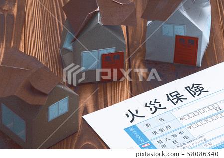 화재 보험 주택 재해 화재 이미지 58086340
