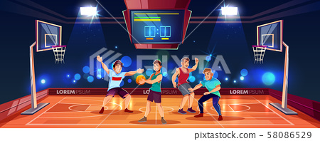 background with people playing basketball 58086529