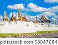 grand palace and Wat Phra Kaeo in bangkok, 58087084