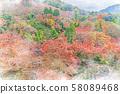 일본의 가을 시미즈 절에서의 단풍 58089468