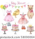 Baby shower set 58090064