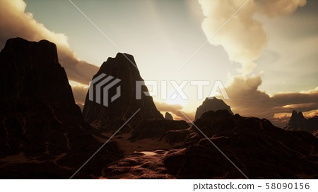 Amazing Sandstone Formations in Famous Sunset at 58090156
