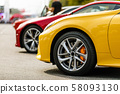 luxury cars in a row 58093130