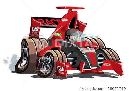 Vector cartoon formula 1 race car isolated on white 58095739
