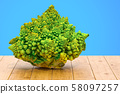 Romanesco broccoli close-up 3d rendering 58097257
