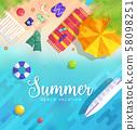 summer vecetion time background vector illustration concept 58098251