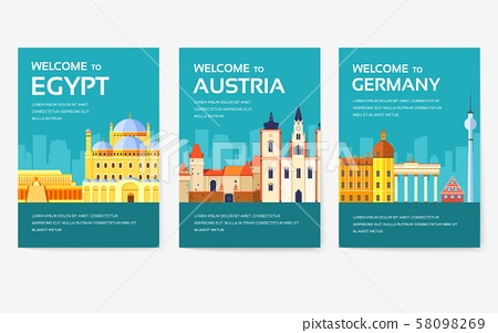 Country of Egypt, Austria, Germany, India, Russia, Thailand, Japan, Italy card set. Travel of the 58098269
