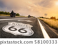 Historic Route 66 Road Sign 58100333