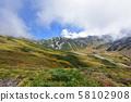 立山,雷鸟,正武,中部山国家公园,北阿尔卑斯山 58102908