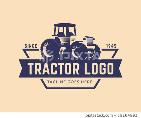 Tractor logo template, farm logo vector 58104893