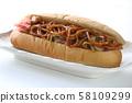 야키소바 빵 58109299