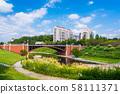 Hachioji City Nagaike Park Nagaike Mitsuke Bridge Former Yotsuya Mitsuke Bridge 58111371